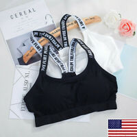 Womens Seamless Sports Padded Bra Stretch Running Yoga Fit Workout  Underwear.