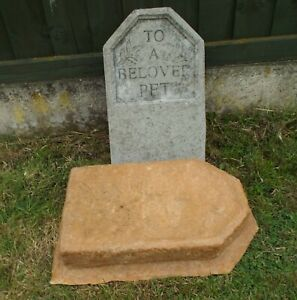 To a Beloved Pet Headstone > latex mould Garden Ornament Concrete