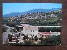 Vecchia foto cartolina d epoca di Villammare Le Ginestre collina case strada per