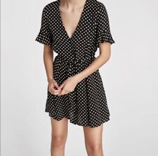 Zara Black And White Polka Dot Dress