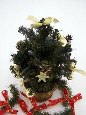 Weihnachtsbaum Christbaum gold Farben Höhe ca. 30 cm mit Beleuchtung-künstlich