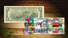 2016 CHICAGO CUBS WORLD CHAMPIONS SPECIAL EDITION U.S. $2 BILL! SIGNED BY RENCY!