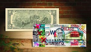 2016 CHICAGO CUBS WORLD CHAMPIONS SPECIAL EDITION U.S. BILL! SIGNED BY RENCY