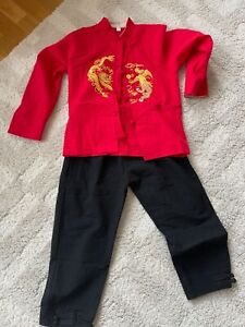 Multicultural Chinese boy Costumes for Chinese New Year 9-10 yrs children