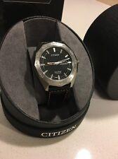 Citizen Eco-Drive Super Titanium Leather Mens Watch AW0060-03E