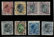 Denmark 1913 King Christian X Used Collection