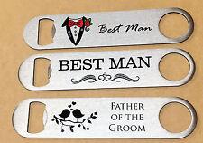 Personalised Stainless Steel Bottle Opener Wedding Favor Groomsman Best Man Gift