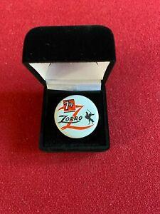 "1957, ""Zorro"" (Walt Disney), 7up Promotional Pin (Scarce / Vintage)"
