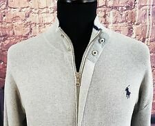 Mens Polo Ralph Lauren funnel neck zip jacket stretch fit size medium 40-42""