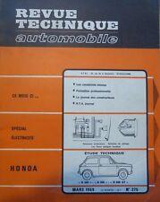 Revue technique HONDA N 360 N 600 N 600 GT RTA N° 275 1969 + ELECTRICITE