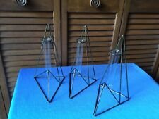3 Geometric Art Deco Style New Antique Look Bud Vase Plant Rooter Hang or Table