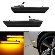 Pair Front 2PCS Smoke LED Side Marker Lights 2008-2014 Dodge Challenger RT SRT8
