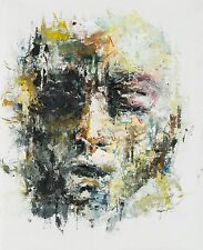 Shai-Yossef-oil-painting-wall-abstract-portrait-signed-man face Contemporary ART