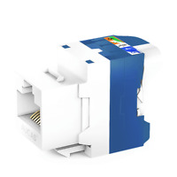 2PCS CAT6 LAN RJ45 Pass Through Network Cable Modular Plug Connector Adapter New