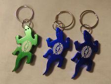 3 Kona Brewing Hawaii Gecko Bottle Opener Blue Green Metal Key Chain Keychains