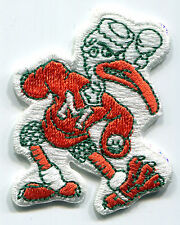 "MIAMI HURRICANES NCAA COLLEGE 2.25"" MASCOT TEAM LOGO PATCH"