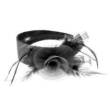 Moliabal Milano Holiday Headband-  Black   Black Spiral Flower