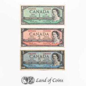 CANADA: Set of 3 Canadian Dollar Banknotes.