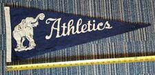 "Authentic Vintage c 1940's Phila Athletics A's Pennant 28"" x 11"" THICK Wool Felt"