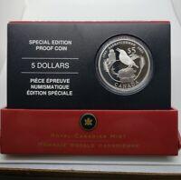 Canada 2005 $5 Saskatchewan Centennial  .9999 Silver Proof Coin