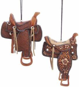 2 Piece Western Saddle Set Christmas Ornaments by Kurt Adler