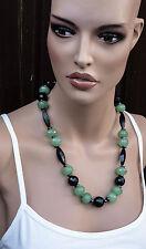 Halskette Silber 925 Heilstein Aventurin Onyx -Bakelit- Haut Haare Herz Gemüt
