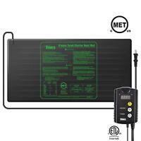 iPower MET Certified Seedling Heat Mat & ETL Digital Thermostat Control Combo