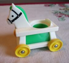 Fisher  Price Little People Little Rider Ride ON #656 Riding  Horse GREEN ONLY