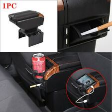7 -USB Charging Car Dual Opening Armrest Box Central Console Cup Holder Storage