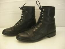 Men's 9.5 D M Ariat ATS Heritage Lacer Boots Black Bullhide Leather Roper Cowboy