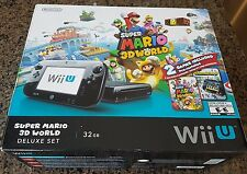 Nintendo Wii U Deluxe 32GB Black System + Extras + 37 Loadiine Games - *USED*