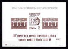 Spanien 1984 postfrisch MiNr. 2633-2634  als Ausstellungs Block ESPANA 84