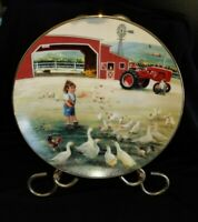 Country Companions Decorative Wall Plate Feeding Time Zolan Danbury Mint Farm