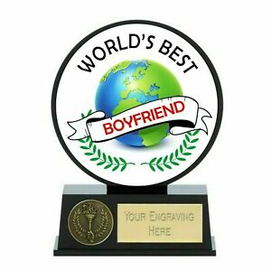 Vibe Worlds Best Boyfriend Trophy 12 cm with Free Engraving up to 30 Letters
