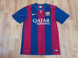 CLASSIC FC BARCELONA 2014-2015 MENS S SMALL FOOTBALL HOME SHIRT