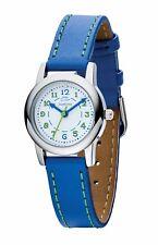 ' D ' Para Diamante Cuero Azul Reloj Z1023