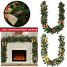 180cm Christmas Green Garland LED Fairy Lights Indoor Outdoor Decoration