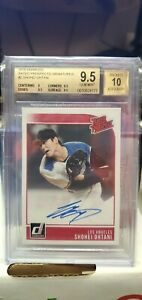 BGS 9.5/10 Shohei Ohtani 2018 Donruss Rated Prospects Signatures Rookie RC Auto