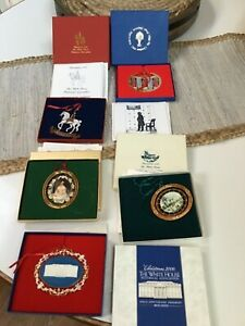 Excellent! (LOT of 5 THE WHITE HOUSE Historical Association CHRISTMAS ORNAMENTS