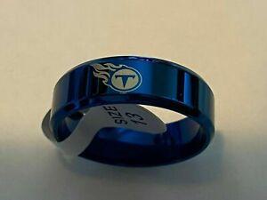 Tennessee Titans Titanium Ring,  sizes 5-14