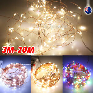 2-20M USB Battery Powered Copper Wire String Fairy Lights Xmas Wedding Party