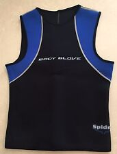 "Body Glove - Black &Blue Neoprene ""Spider"" Body Suit Top - Size Small New"