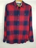 Vintage Sears Roebuck Co Plaid Longsleeve Flannel XLT Mens Red Button Up