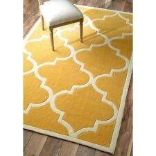 nuLOOM CINE Hand Made Contemporary Geometric TRELLIS Rug RUNNER  Mustard Yellow