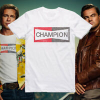 Once upon a time in Hollywood Brad Pitt Champion T-Shirt SG47 Unisex White Tee