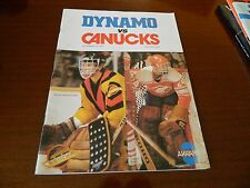 1979 Vancouver Canucks program vs MOSCOW DYNAMO w/ticket dec.26 Rare* NICE*