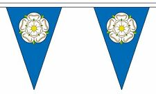 YORKSHIRE 20m metres BUNTING TRIANGULAR 54 flags Triangle flag York decoration