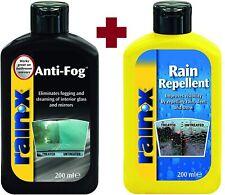 Rain-X Anti-Fog + Rain Repellent Window Mirror Glass Treatment Car Combo Pack