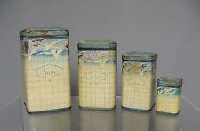 Ancienne serie de boites à épices en tôle.