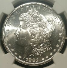 1881 S MORGAN SILVER DOLLAR NGC MS64 1881S $1 MS 64 GEORGE T. UNITED STATES